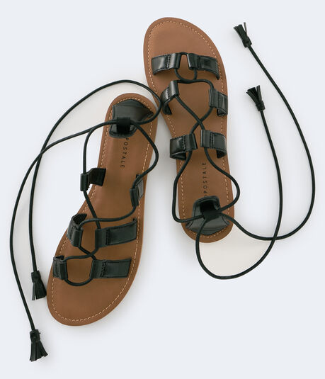 Lace-Up Gladiator Sandal***