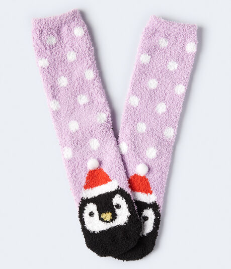 Polka Dot Penguin Crew Socks
