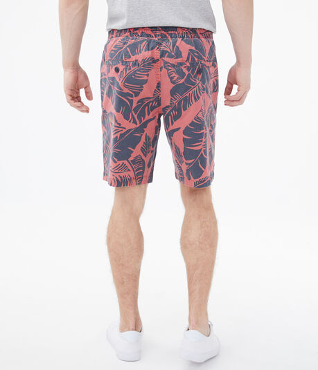 """Palm Leaves 9"""" Stretch Jogger Shorts"""