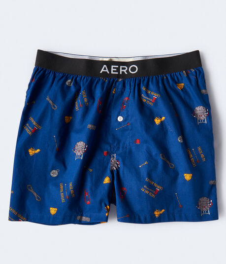 Camping Icons Woven Boxers