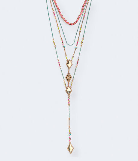 Multicolor Layered Short-Strand Necklace