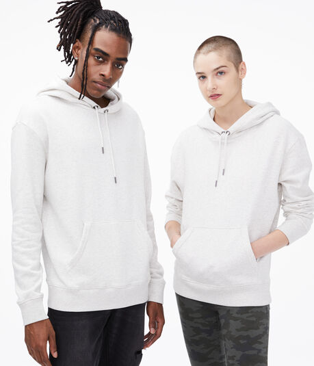 Aero One Striped-Back Pullover Hoodie