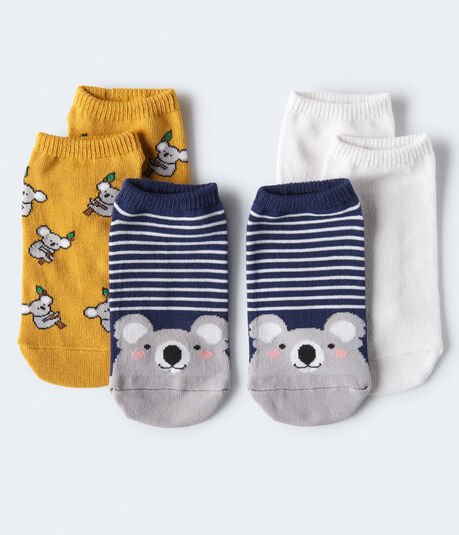Koala Ankle Sock 3-Pack***