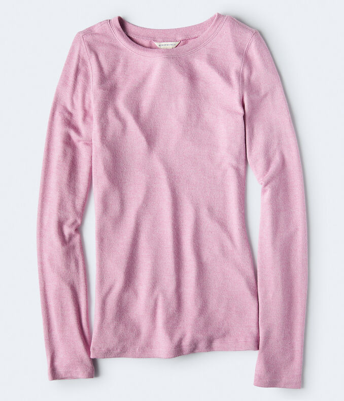 Long Sleeve Seriously Soft Solid Crew Top