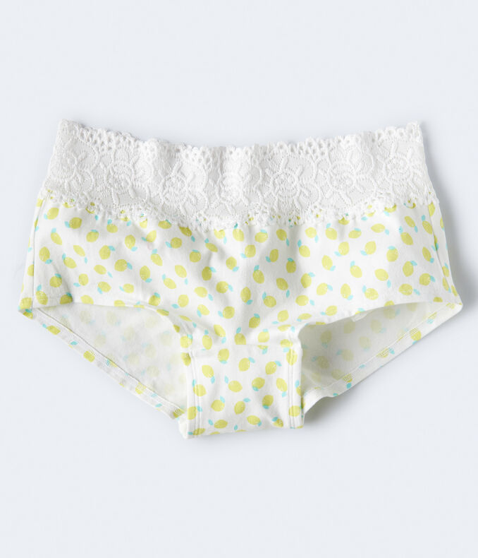 Lemon Lace-Trim Boyshort