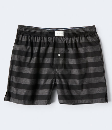 Thick Stripe Woven Boxers