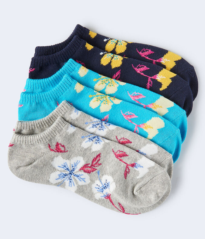 Hibiscus Ankle Sock 3-Pack