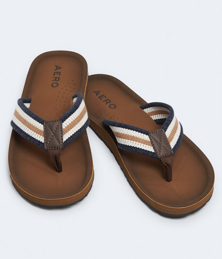 Striped Canvas Flip-Flop