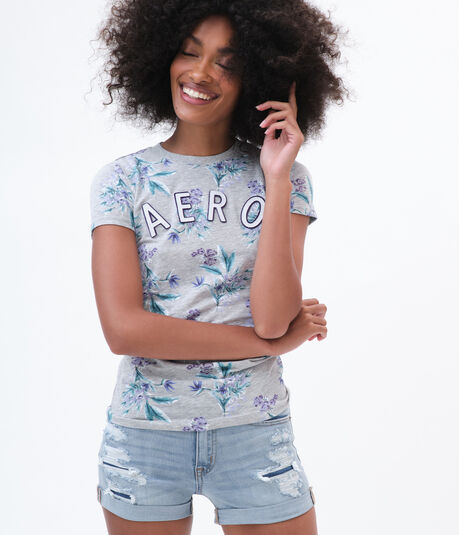 Arched Aero Floral Graphic Tee