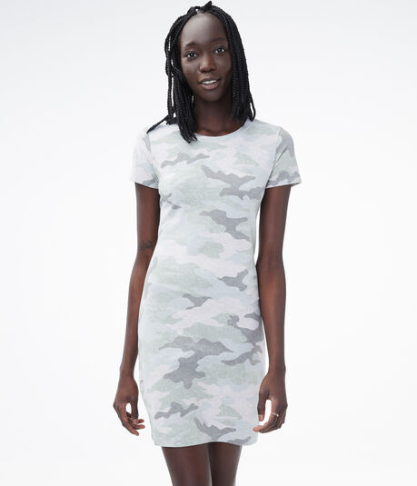 Camo Bodycon T-Shirt Dress***