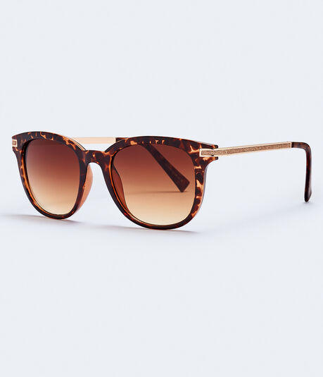 Small Tortoiseshell Square Sunglasses