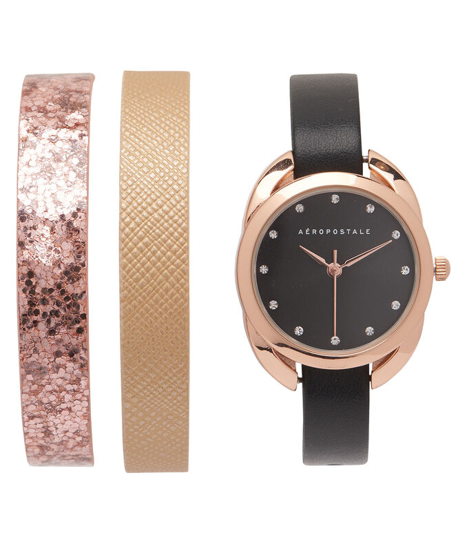 Interchangeable Strap Rhinestone Analog Watch