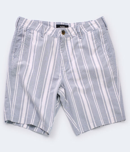 "Vertical Stripe 9.5"" Flat-Front Shorts"