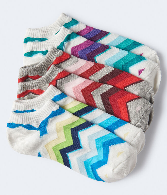 3-Pack of Chevron Ankle Socks
