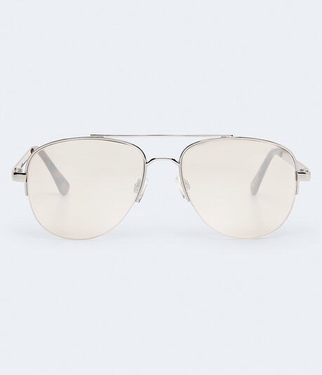 Semi-Rimless Aviator Sunglasses***
