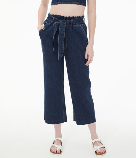 Real Denim High-Rise Wide-Leg Denim Pants