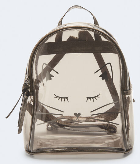 Kitty Cat Clear Mini Backpack