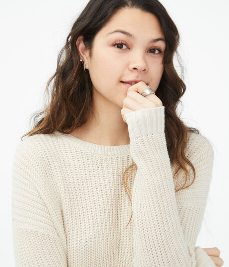 Twisted Open-Back Sweater