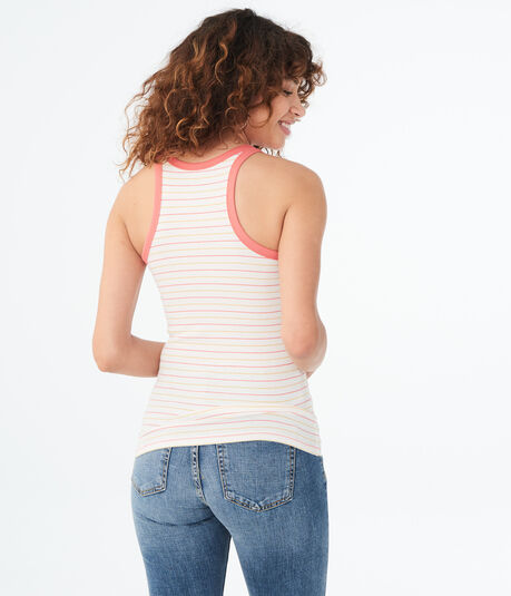 Seriously Soft Striped High-Neck Tank