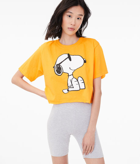 Sunglasses Snoopy Cropped Graphic Tee***