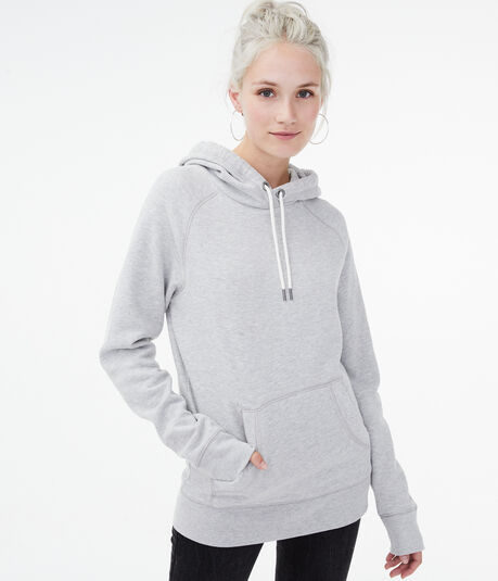 Heathered Fleece Pullover Hoodie
