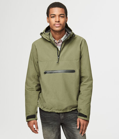 Hooded Pullover Anorak Jacket