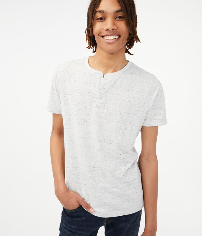 Heathered Henley