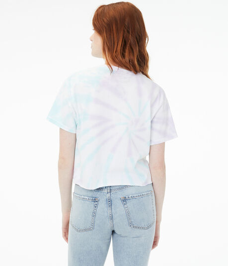 Led Zeppelin Tie-Dye Cropped Graphic Tee