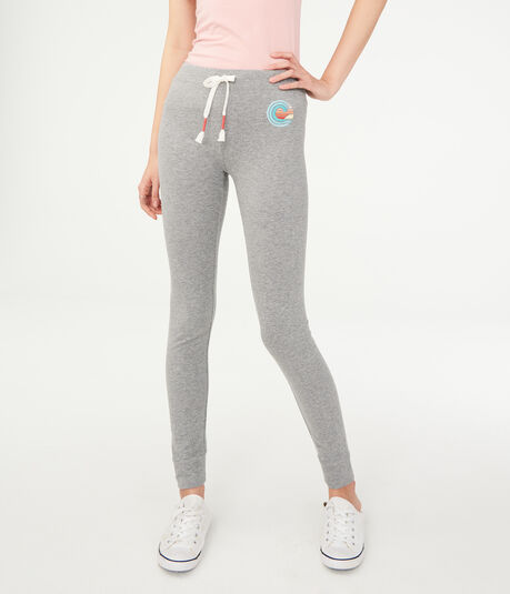 Wave Embroidery Leggings