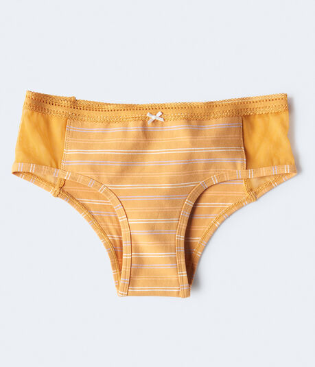 Colored Stripe Mesh-Panel Cheeky