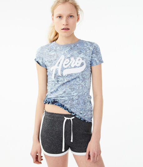 Aero Floral Space-Dye Graphic Tee