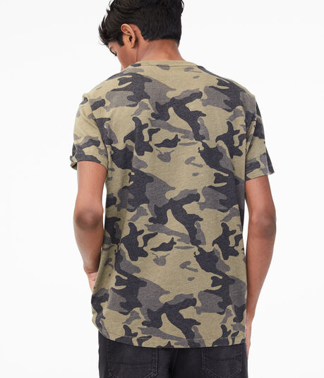 Vertical Aero Camo Graphic Tee