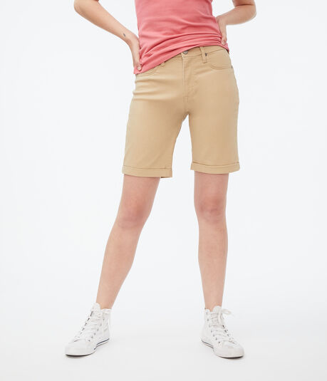 Seriously Stretchy Curvy High-Rise Uniform Bermuda Shorts