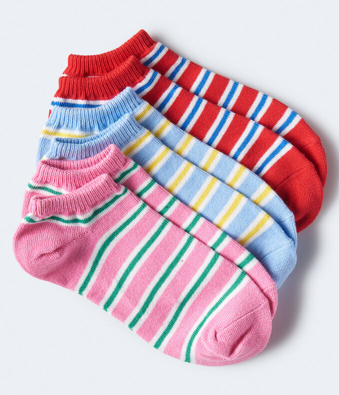 3-Pack Thick Stripe Ankle Socks