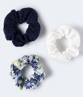 Metallic Mesh Scrunchie 3-Pack