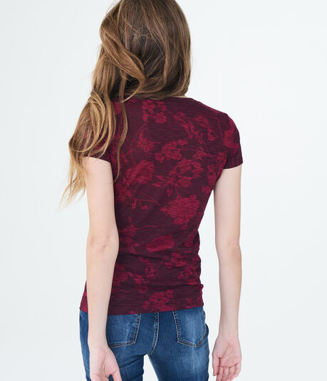 Aeropostale NY Floral Graphic Tee