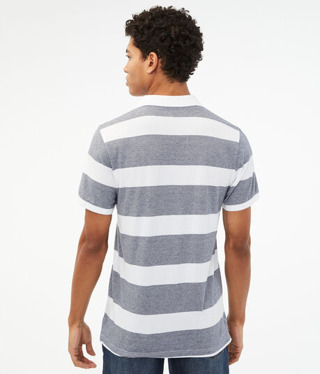 Thick Stripe Jersey Polo