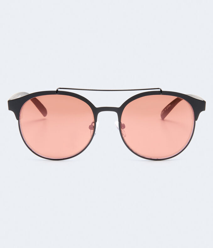Round Colored Lens Sunglasses