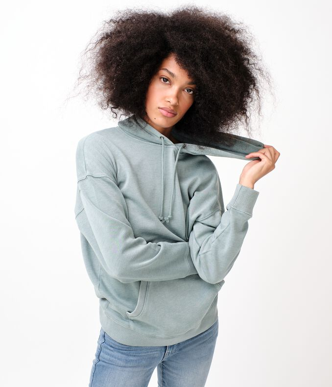 Washed Oversized Pullover Hoodie