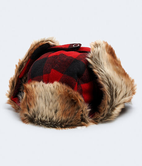 Buffalo Plaid Trapper Hat