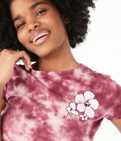 Flower Tie-Dye Graphic Tee