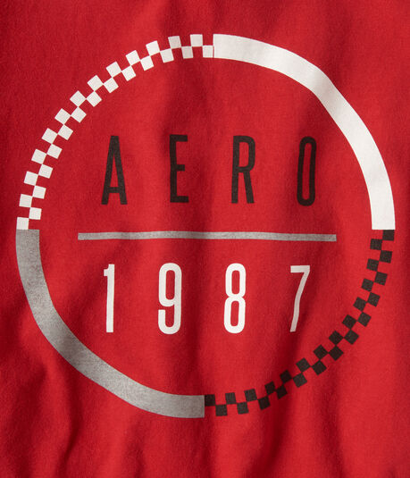 Aero 1987 Checkered Circle Graphic Tee***