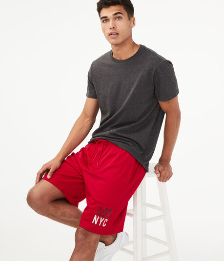"A87 NYC 9.5"" Mesh Athletic Shorts"