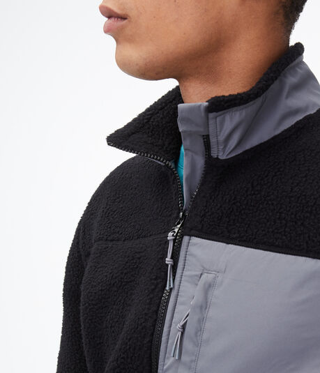 Colorblocked Sherpa Jacket