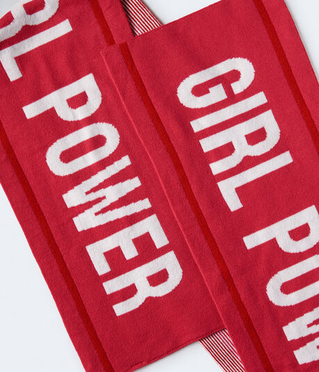 Girl Power Knit Scarf***