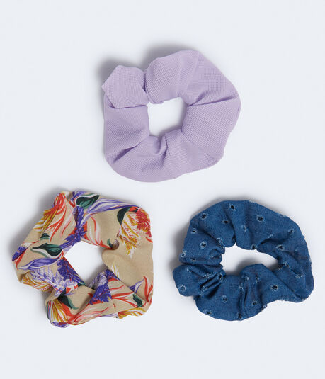 Tropical Floral Scrunchie 3-Pack