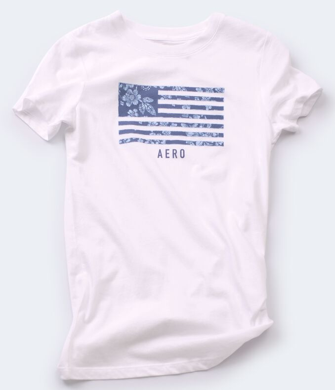Floral American Flag Graphic Tee