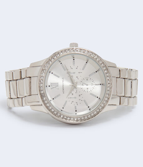 Rhinestone Metal Analog Watch