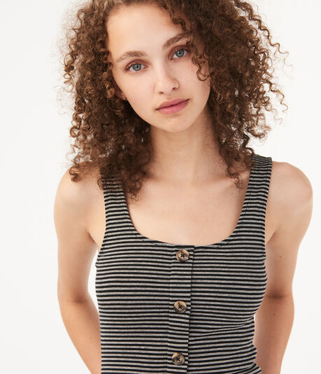 Seriously Soft Striped Button-Front Tank