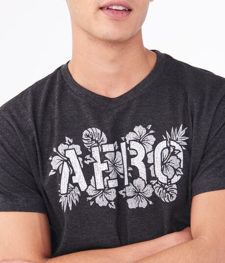 Tropical Floral Aero Graphic Tee